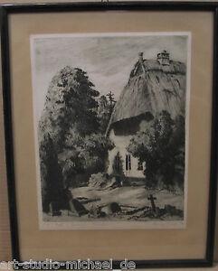 """Norddeutsche Künstler: Henry Garde """"Sonniger Winkel"""" Radierung 1920"""