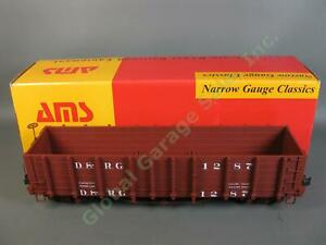 AMS AM30-004 1:20.3 Denver Rio Grande D&RG #1287 Gondola Train Car G Scale NR