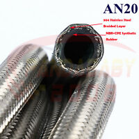 AN20 20AN 20 AN-20 TRANSIMISSION OIL FUEL LINE GAS RADIATOR STEEL HOSE 1FOOT SL