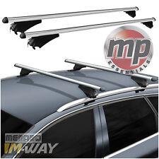 M-Way con Cerradura Aluminio 120cm Coche Techo Barras de rieles de rack para caber Seat Leon 2012 >