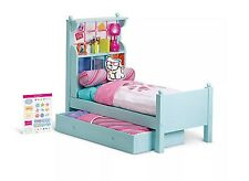 American Girl doll BOUQUET wood Trundle BED SET & BEDDING Comforter NEW retired