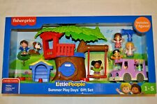 Fisher Price Little People 7 figures Summer Play Day Kids Toy