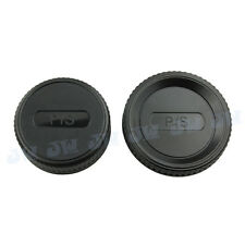 Body& Rear Lens Cap for Pentax K Mount Lens &Camera KP K-5IIS K7 KX K30 K20D K-7