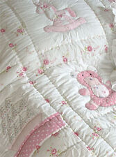 100% Cotton Pocket Stitched Bed Quilt-Single(150x225cms)-Powell Craft-Teddy Bear