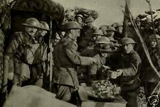 """British Army Soldiers Chow Time in Trench World War 1 6x4"""", Reprint Photo"""