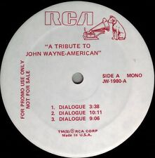 JOHN WAYNE TRIBUTE LP: Ann-Margret, Ronald Reagan, Roy Rogers, Gene Autry, etc.
