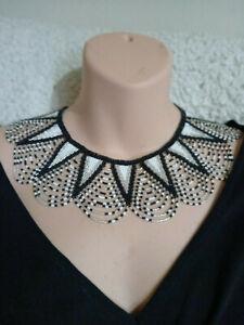 African Jewellery Zulu Tribal Choker Glass Beaded Necklace Handmade in KZN SA