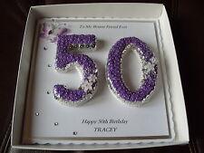 Handmade Personalised 50th, Keepsake Birthday Card