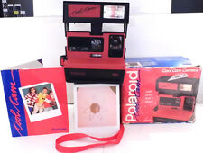 Polaroid 600 Instant Camera- Red Cool Cam +Retail Box & Manual -TESTED V1