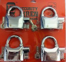 keyed alike padlock Siren Alarm Padlocks CHROMIUM PLATTED))))FREE P/H