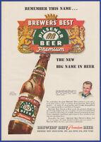 Vintage 1947 BREWERS' BEST Pilsener Beer Alcohol Ephemera 40's Print Ad