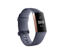 New Blue Gray Fitbit Charge 3 Fitness Activity Tracker - Touchscreen, Swim Proof