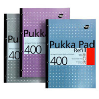 Pukka A4 Ruled 400 Page Refill Pad 8mm Ruled Lines 80gsm Paper - 4 Hole Punched