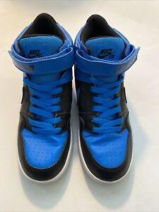 Nike SB Mogan Mid 2 JR B Kid Skateboard 645025-400 Blue/Black Shoes Size 7Y