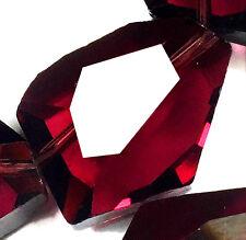 15x20mm Faceted Deep Purple Crystal Quartz Nugget beads 10PCS