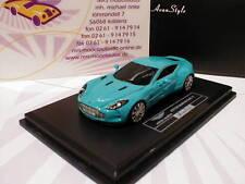 """FrontiArt HO-11 # Aston Martin One:77 Sportwagen Baujahr 2009 """" Babyblau """" 1:87"""