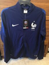 Nike FFF REV Knt The Line French Football Federation Tracksuit Sz m Blue/white
