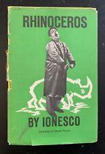 EUGENE IONESCO - RHINOCEROS - 1ST ED. - 1960 - DJ - APPEARS UNREAD.