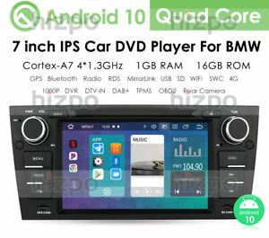 """DAB+Car Stereo for BMW 3 Series E90 E91 E92 E93 Sat Nav 9""""Android 10  DVD Player"""