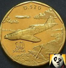 MARSHALL ISLANDS 1991 $10 D.520 LEGENDARY AIRCRAFT WW2 TEN DOLLAR COIN