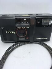 Olympus Infinity 35mm Auto Focus Camera Zuiko 35mm 1:2.8 Lens - BID $1