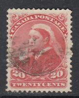 "Canada Scott #46  20 cent vermilion ""Small Queen"""