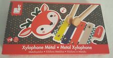 NIB Janod Baby Forest  Metal Xylophone Design France
