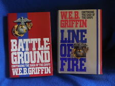 Line of Fire and Battleground W.E.B. Griffin  History Fiction 2 Books