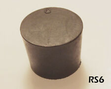 #6 Black Natural Rubber Laboratory Stoppers Size 6 SOLID STOPPER 4/pack RS-6