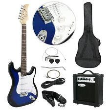 Blue Full Size Electric Guitar with Amp Case amp Gig Bag Case & Picks Beginner