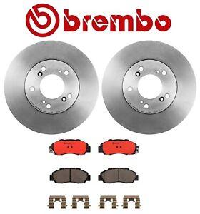 For Honda CR-V 1997-2001 Front Brake Kit Coated Disc Rotors Ceramic Pads Brembo