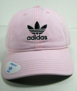 Adidas Women's Originals Relaxed Strapback Cap Hat One Size Pink White Or Navy