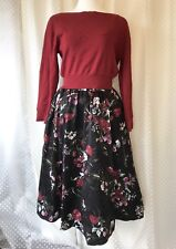 FINAL PRICE! SNIDEL: Deep Red Sweater & Cami + Floral Skirt Dress Sacai