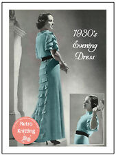 Années 1930 Robe de soirée Knitting Pattern copie