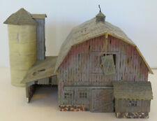 HO Scale Landmark Structures Rustic (Dilapidated) Barn and Silo