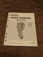 Honda Outboard BF115A HDS Tester Troubleshooting Service Manual Supplement 2008