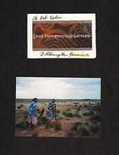Doris Pilkington SIGNED card + photo * Follow the Rabbit-Proof Fence * Australia