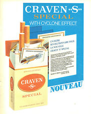 Publicité Advertising 107  1984   cigarettes Craven S special effet cyclone