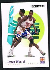 Jerrod Mustaf #641 signed auto autograph 1991-92 SkyBox Basketball Trading Card