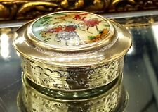Vintage Islamic Silver plated Powder Compact .