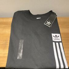 Adidas Skateboarding Mens T Shirt Size L Large New Authentic Trefoil Logo Pillar