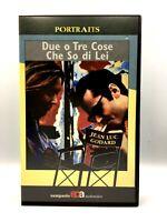 VHS FILM ITA DUE O TRE COSE CHE SO DI LEI JEAN LUC GODARD VIDEOCASSETTA Rara