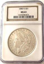 Rare, 1886-O, Ngc Ms-63, U.S. Morgan Silver Dollar- See Other Rare Morgans