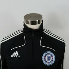 Chelsea Football Club Soccer Womens Clima 365 Zip Up Black Track Jacket Adidas L