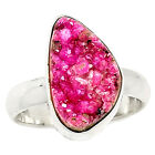 Cobalt Druzy 925 Sterling Silver Ring Jewelry s.8 CBDR9