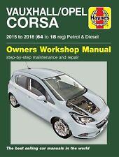 Vauxhall Corsa Repair Manual Haynes Workshop Service Manual 2015-2018