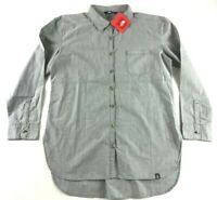 The North Face Women's Front Pocket Gray Long Sleeve Button Shirt Size S,M,L,XL