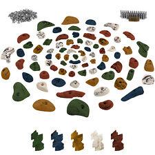 80 Klettergriffe Klettersteine inklusive Schrauben und 250 Einschlagmuttern