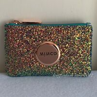 FREE POST MIMCO BLISS MINT ROSE GOLD TINY SPARKS GLITTER WIDE MIM GLITZ S POUCH