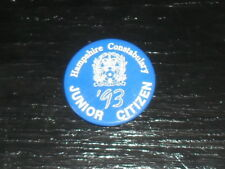 Old Police Button Badge Hampshire Constabulary Junior Citizen 1993